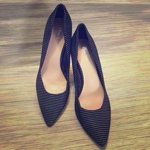 Flocked Suede Pumps - (9.5) New